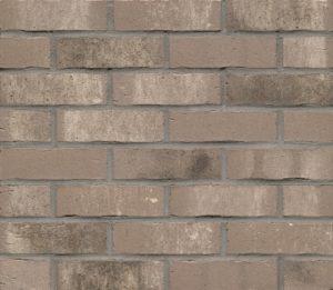 Klinkerriemchen R764 Vascu Argo Rotado, grau-weiß nuanciert, Kohlebrand, Wasserstrichoptik